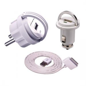 China White DC Universal USB Charger Kit for Mobile Phone , Digital Camera on sale