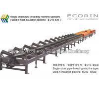 China PU Heat Insulation Pipe Machine Heat Resistant Single Chain Pipe Threading Machine on sale