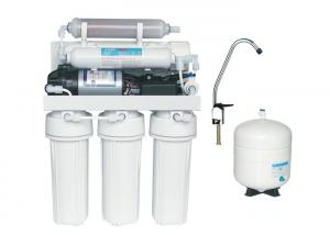 China Manual flush Brackish Water Reverse Osmosis Systems with 10 slim double O-ring Cartridge housing on sale