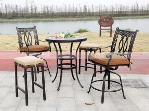 China BML16206 round tile top bar table 805*975 for bar/hotel/lounge bar/garden yard on sale