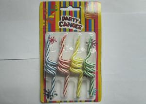 China Unique Twisted Spiral Shaped Birthday Candles Flameless 4 Pcs Per Set on sale