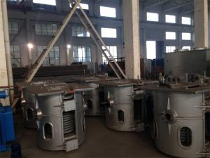 China Hydraulic Titlting Type Induction precious stone / Steel Melting Furnace Energy Saving on sale
