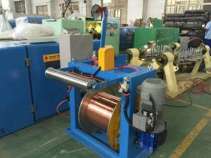 China Sky Blue Copper Wire Twisting Machine , Shaftless Activewire Take Up Machine on sale