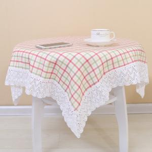 China Table Cloth With Lace(check design) on sale