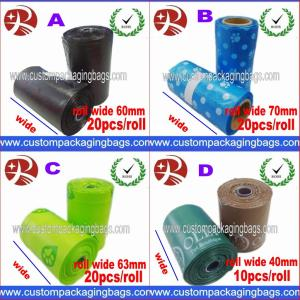 China Custom Disposable Plastic Dog Poop Bag With LDPE + OXO Biodegradable on sale