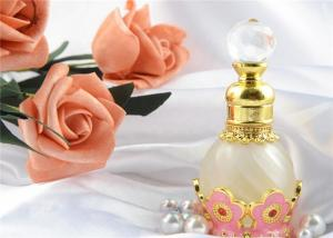 China Custom Dubai Arabian Colorful Perfume Bottles Wind Metal Oil Pink Color on sale