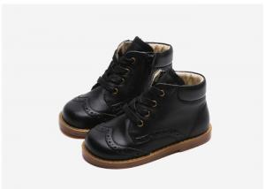 China New Real Leather Children Boots Rubber Sole Waterproof Toddler Girls Boys Martin Boots on sale