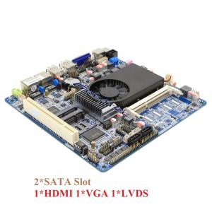 China 2 SATA HDMI VGA LVDS Mini Dual Lan ITX Motherboard Support Double Display on sale