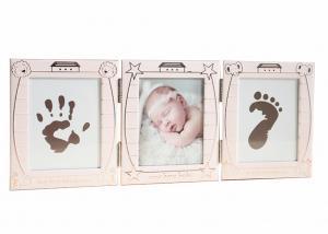 China Personalized Baby Hand And Footprint Photo Frame Keepsake Box Decoration on sale