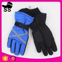 China Stock Snow Keep Warm Quality Crossed Pattern Lengthen Wrist Windproof Women Ski Gloves on sale