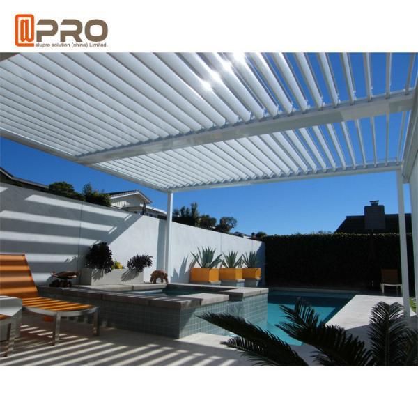 Sun Shade Opening Roof Modern Aluminum Pergola Outdoor Rainproof