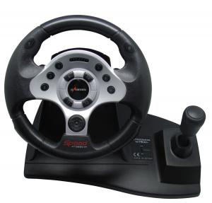 China Wired Large Racing Gaming Steering Wheel Gearbox / Sensitivity For Xbox360 on sale