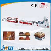China Jwell hot sale PVC WPC foaming single screw extrusion line on sale