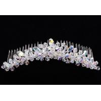 2013 Fashion Crystal Bridal Hair Comb Simple Design 925 Strerling Silver Plated Hair Accessories for Women LP0073