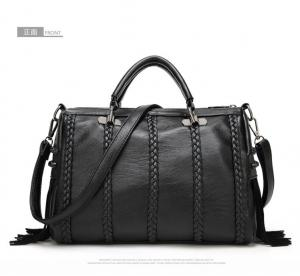 China Weave Bag PU Leather Bags with Tassel Tote Bag Casual Simply Women's Handbags on sale