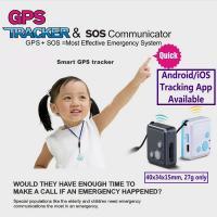 Mini GSM GPS Tracker Child Kids Elderly SOS Emergent Help Communicator Sender W/ Microphone Speaker for 2-Way Phone Talk