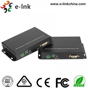 Quality DVI KVM Fiber Optic Extender , DVI 1.0 Protocol , 1Ch Analog Audio, Support KVM, SFP port (3G) for sale