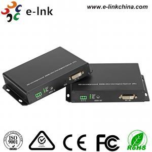 Quality KVM DVI Video To Fiber Converter 1.0 Protocol 1Ch Analog Audio Support KVM, SFP for sale