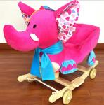 Lovely Pink Green Animal Baby Rocking Chair Toy Elephent Eco - Friendly 60*33*55cm SGS ITS