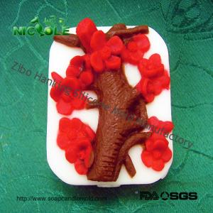 China Nicole H0080 Flower Wintersweet Custom Handmade Natural Soap Form Silicone Rubber Molds Factory Outlet on sale