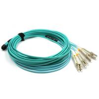 PVC / LSZH Material MPO MTP Cable , Custom Length Fiber Optic Patch Cord Cable