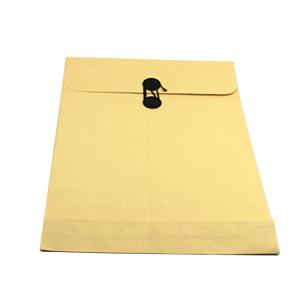 China Printed Paper File Bag Packaging Paper Envelope With Button / String on sale