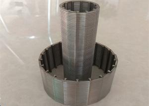 China Vee-Shaped Wrapped Wire Johnson Wedge Wire Screens For Water Supply Systems on sale
