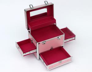 China Pink Aluminum Cosmetic Tool Train Case on sale