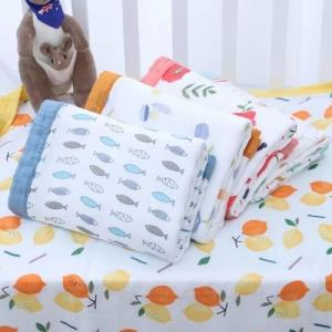China Extra Large Muslin Baby Blankets Breathable Bamboo Cotton Seersucker on sale
