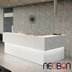 Quality Modern Beauty Salon Reception Desks Curved Counter Design For
