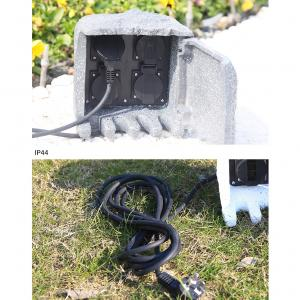 Outdoor Garden Electrical Power Outlet Socket Box Resin Enclosure