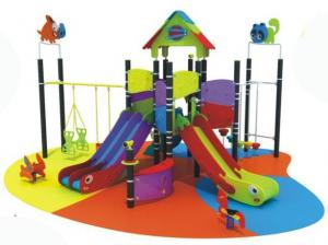 China double slide galvanized pipe diameter 114mm outdoor playgrounds for kids on sale