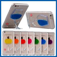 Creative Fummy Iphone 6 Cover With Stand , 3D Liquid Wine Cup Apple Iphone Cases
