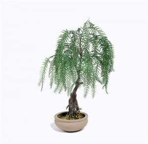China Weeping Willow Imitation Bonsai Trees Non Toxic Strong UV Resistance on sale