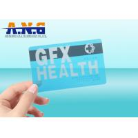 China CR80 Size Clear transparent business card RFID with black magnetic stripe on sale