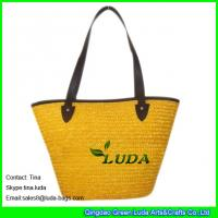 LUDA personalized bags fashion yellow wheat straw handbags