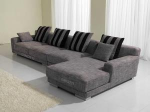 Quality 2 Seater Italian Fabric Sofa Set , Modern Living Room Couches Furniture for sale