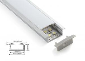 China 23.5mm Recessed Lights LED Linear lighting Aluminum Profile Diffused Cover on sale