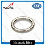 D20*D10*2mm NdFeB Ring Magnet Silver Color N42H Coating Zn Direction Of Texture