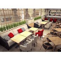 Modern Restaurant Furniture / Oak Wooden Restaurant Tables And Chairs