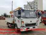SINO TRUK HOWO 2tons telescopic boom mounted on truck for sale, HOT SALE! best price HOWO 2tons truck with crane