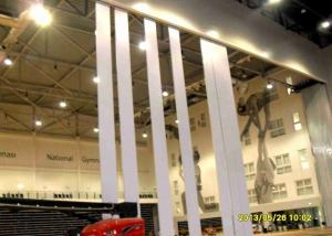 China Ultra High Partition Wall Wood Veneer Finish , Operable Partition System Aluminum Frame on sale