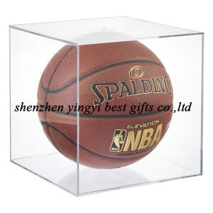 China NEW design acrylic  Basketball & Soccer Ball Display Cube on sale