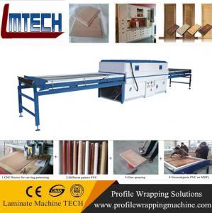 China Philippines PVC cabinet Vacuum Membrane Press Machine on sale