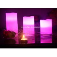 Multi Color Remote Control Battery Operated Candles 3 Piece / Set Security For Home