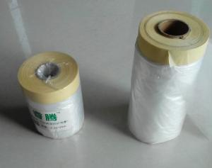 China PE disposable masking film with paper core for car repairing on sale