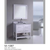 Four Drawers MDF Bathroom Vanity With  Bottom Shelf Sturdy A Strong Construction