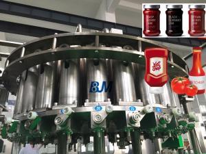 China Fruit Jam / Kechup HIGH VISCOSITY LIQUID Bottle Filling Machine 220V / 380V on sale