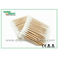 """Single / Double Head Hospital Disposable Products Surgical Wooden Cotton Swabs 3"""""""