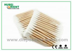 China Single / Double Head Hospital Disposable Products Surgical Wooden Cotton Swabs 3 on sale